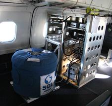 AIRGrav gravimeter aboard a NASA airborne laboratory